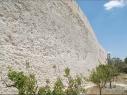 Tramo de la muralla entre las puertas de Las Cuevas y la de Santiago después de la restauración