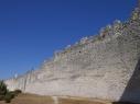 Tramo de muralla coincidiendo con la Huerta del Duque. Antes de su restauración.