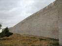 Tramo de muralla coincidiendo con la Huerta del Duque. Después de su restauración