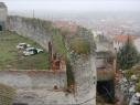 Tramo de la muralla junto a la puerta de Las Cuevas antes de su restauración.