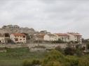 Vista de los dos recintos amurallados junto a la calle de Las Cuevas. Estado antes de su restauración