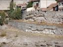 Murallas de la ciudadela y de la ciudad junto a la puerta de Las Cuevas antes de su restauración.