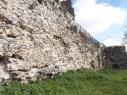 Muralla del segundo recinto junto a la calle de Las Cuevas. Estado antes de su restauración.