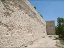 Muralla del segundo recinto junto a la calle de Las Cuevas. Estado después de su restauración.