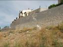 Muralla y contramuralla del segundo recinto junto a la calle de las Cuevas. Estado después de su restauración.
