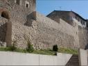 Muralla y contramuralla en la calle Nueva. Estado después de su restauración