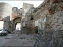 Puerta de San Basilio durante de su restauración.