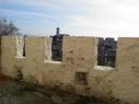 Merlones y almenas de la contramuralla cerca del Convento de la Trinidad
