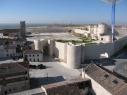 Vista aérea del tramo de la muralla de la Puerta de San Basilio al Castillo