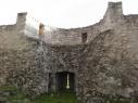 Barbacana o contramuralla del castillo.Detalle interior de una de las torres semicirculares