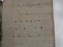 Torre de Las Cuevas. Dettalle de las verdugadas de ladrillo mudéjares.