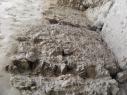 Torre de Las Cuevas. Detalle del encofrado de tapial.