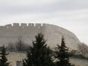 Muralla junto a la explanada del castillo. Vista desde la Huerta del Duque