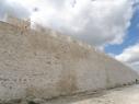 Muralla en la explanada del castillo
