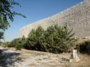 Vista exterior de la muralla desde la Huerta del Duque