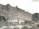 Estado de la muralla a principios del siglo XX. Vista desde la Huerta del Duque.