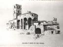 Dibujo de la iglesia de San Pedro y la desaparecida puerta que se encontraba junto a la iglesia